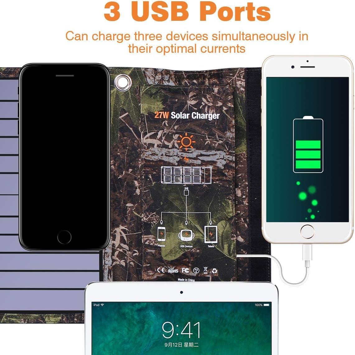 20W USB faltbare Solar Panel Power Bank Outdoor Camping Wandern Ladegerät G3J7