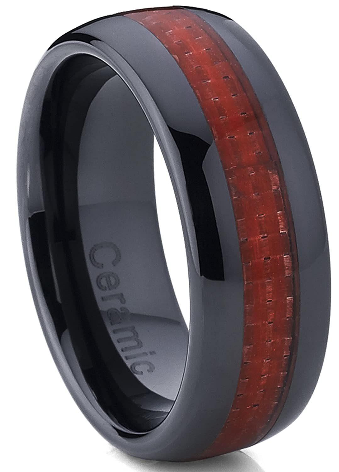 products and ring wedding edges finish polished wholesale diagonal bands aluminum photo ceramic with beveled silver band w brushed anodized tungsten cool red inner rings
