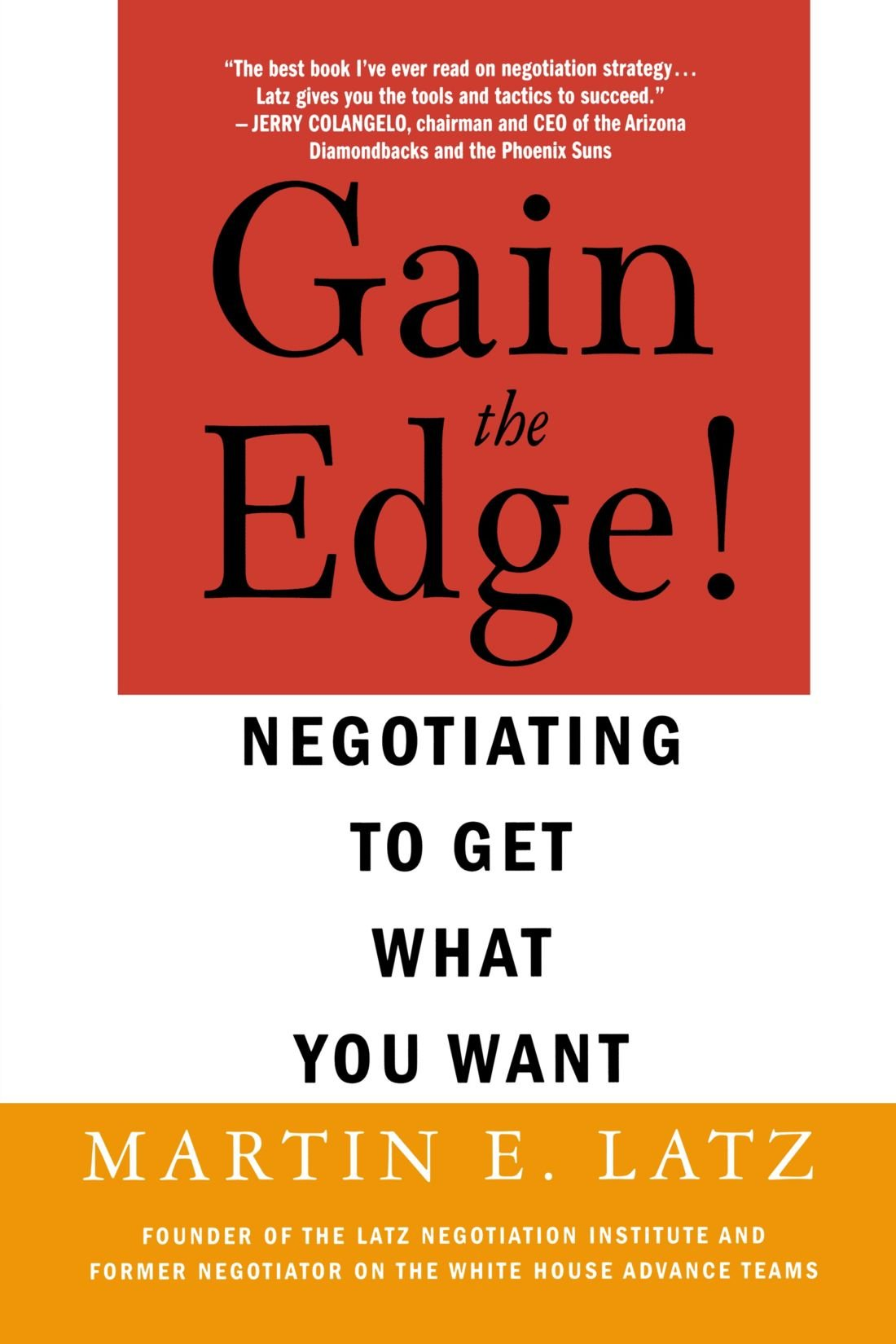 Gain The Edge!: Latz, Martin: 9780312322823: Amazon.com: Books