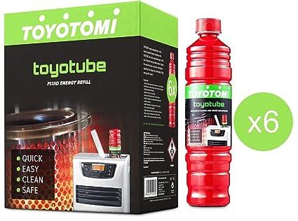 toyotube – Carga Rápida para estufas toyotomi – Pack de 6 botellas de 1,4