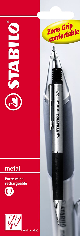 Stabilo metallo –  Blister portamine ricaricabile (Mina 0, 7 mm) 7mm) F44191