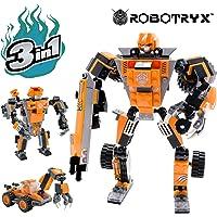 JitteryGit Robot Jouet | 3 en 1 Set créatif et divertissant | Jeux de Construction pour garçons de 6 à 12 Ans Cadeau Jouet pour Enfants | Kit d'affiches Gratuit Inclus