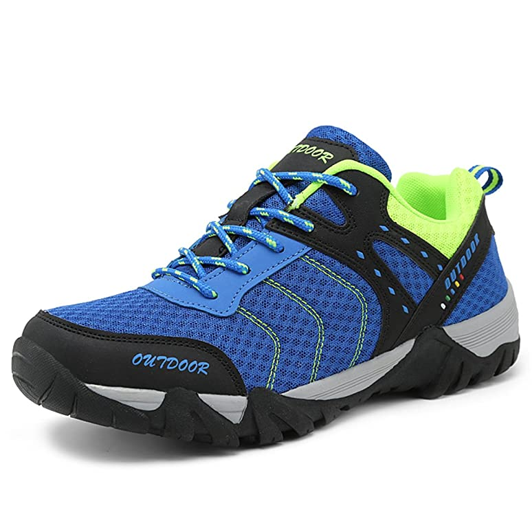 Men's Breathable Mesh Hiking Shoes Mountaineering Quick-Drying Hiking Walking Outdoor Activities