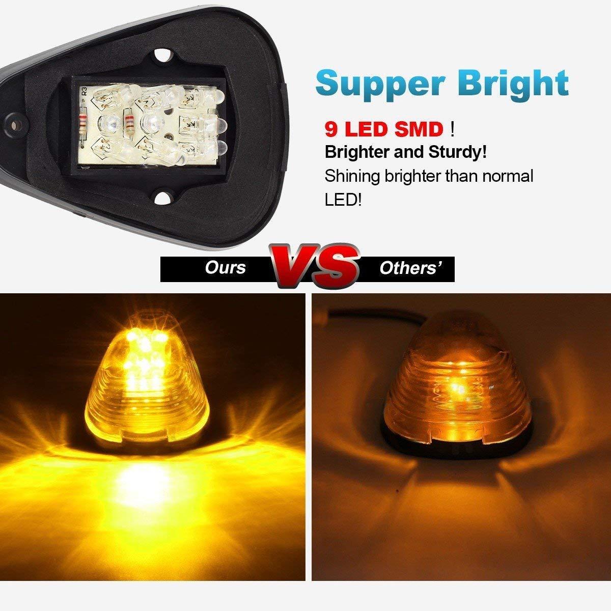 5x Ice Blue 5050-SMD 194 168 T10 LED Bulb for 1999-2016 E150 E250 E350 E350 Super Duty E450 Super Duty F250 F350 F450 F550 Super Duty F150 5x Smoke Cab Marker Clearance Light