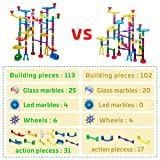 Marble Run Sets for Kids - 142Pcs Marble Race Track Marble Maze Madness Game STEM Building Tower Toy for 4 5 6 + Year Old Boys Girls
