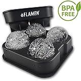 Flamen まる氷アイストレー【BPAフリーシリコン製品で簡単キレイに丸い氷を作成】直径4.5cm