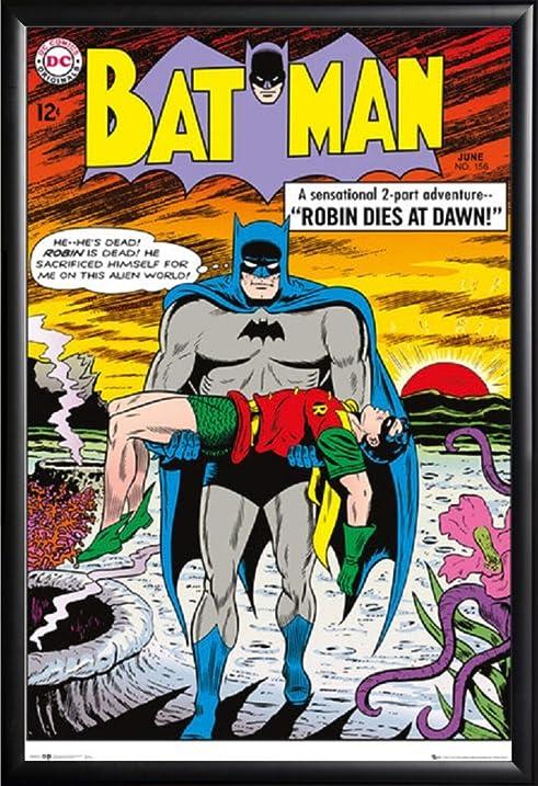 Amazon.com: Framed Batman Comic Book - Robin Dies At Dawn 24x36 ...