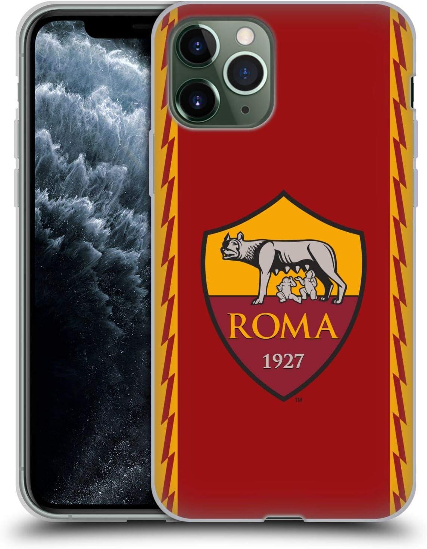 AS Roma Cover in Morbido Gel per iPhone 11 PRO, Custodia per Cellulare, Trasparente