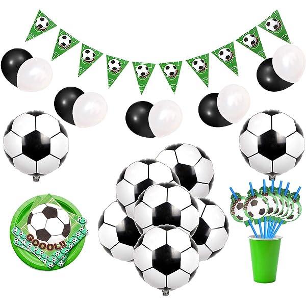 Amycute 30 pcs Decoraciones de Remolino balon de fútbol ...
