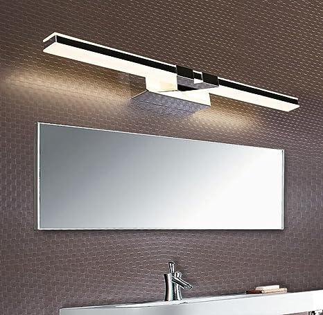 Aoligei LED faros de espejo baño baño moderno simple a prueba de ...