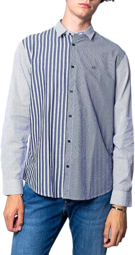 Armani Exchange Trama Righe - Camisa de manga larga para hombre (3 hzc54 znkHz): Amazon.es: Ropa y accesorios