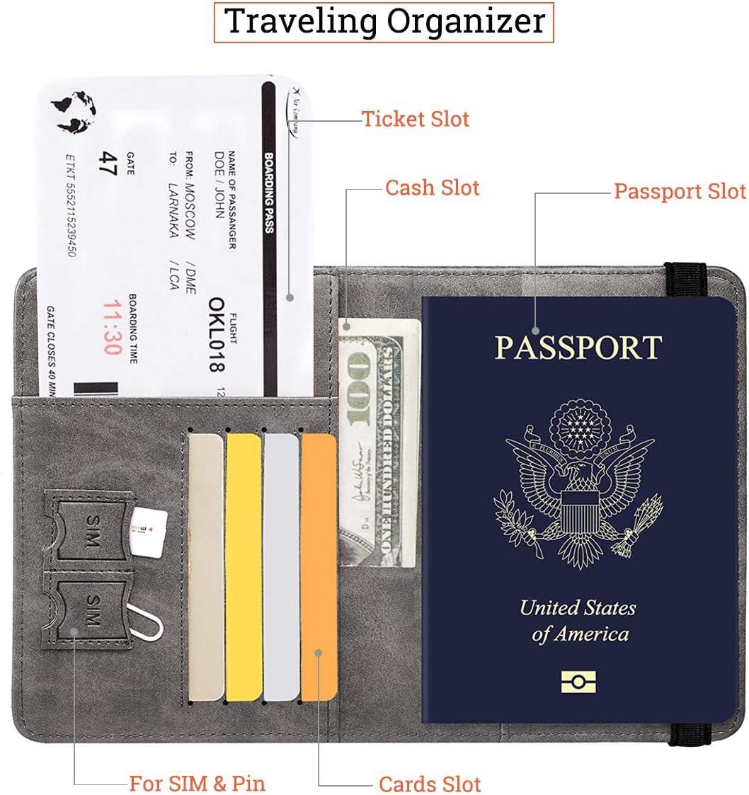 Tapa del Pasaporte, Tapa del Pasaporte con Bloqueador RFID, Porta Pasaporte para Mujeres y Hombres, Estuche de Viaje para Documentos de Viaje: Amazon.es: Equipaje