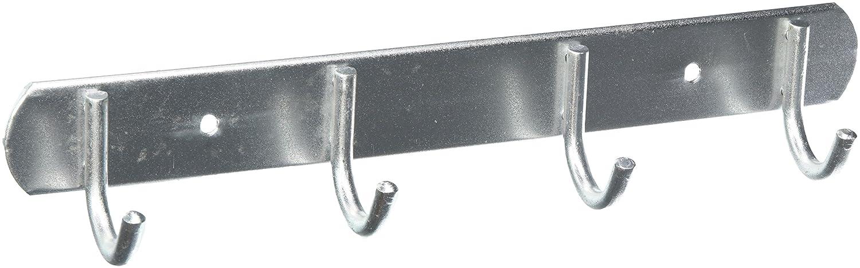 sourcingmap® Attaccapanni Da Parete Design Moderno In Lega d'Alluminio Con 4 Ganci , Gancio Doppio a12081700ux0687