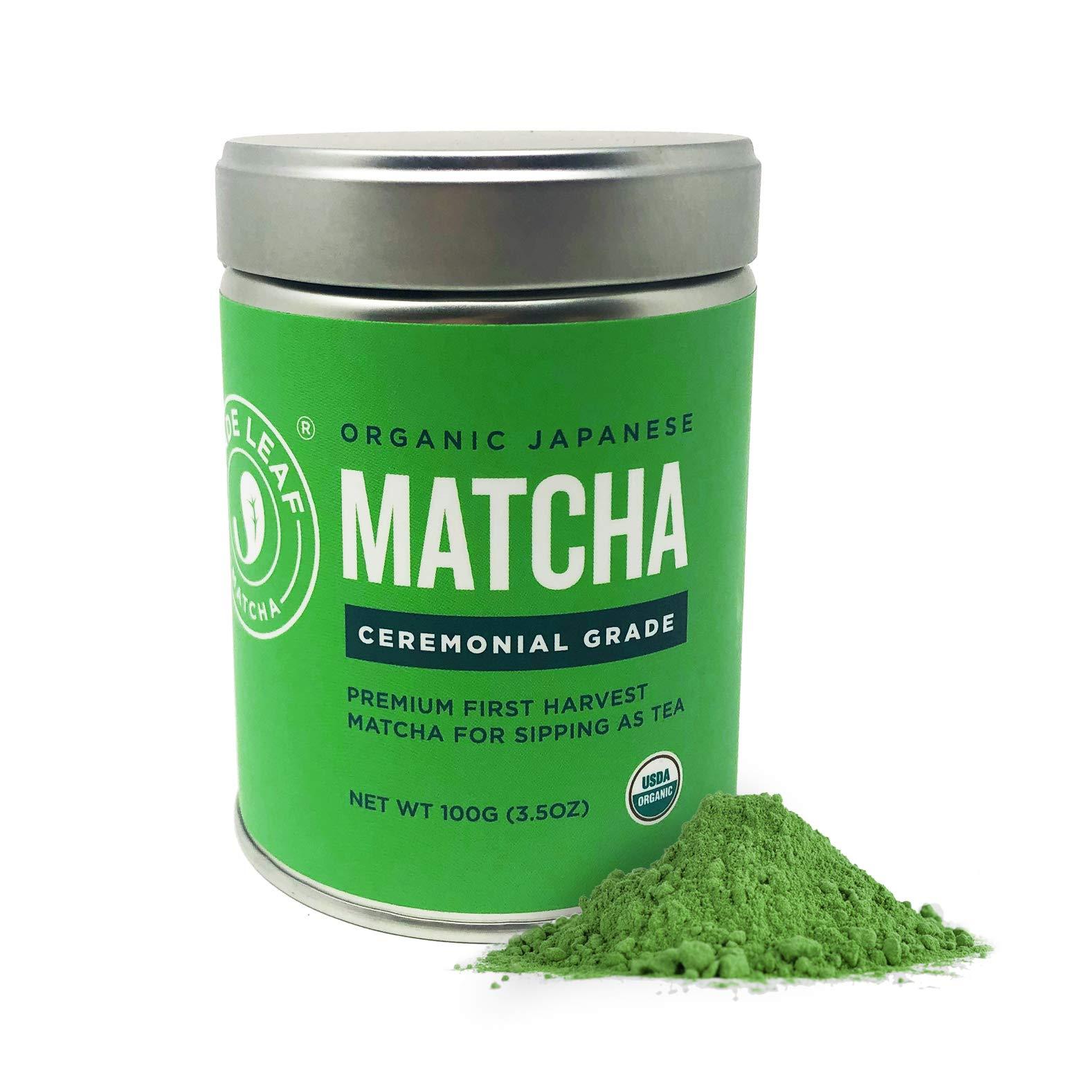 Jade Leaf Matcha Green Tea Powder - USDA Organic - Ceremonial Grade (For Sipping as Tea) - Authentic Japanese Origin - Antioxidants, Energy, 3.5 Ounce by Jade Leaf Matcha