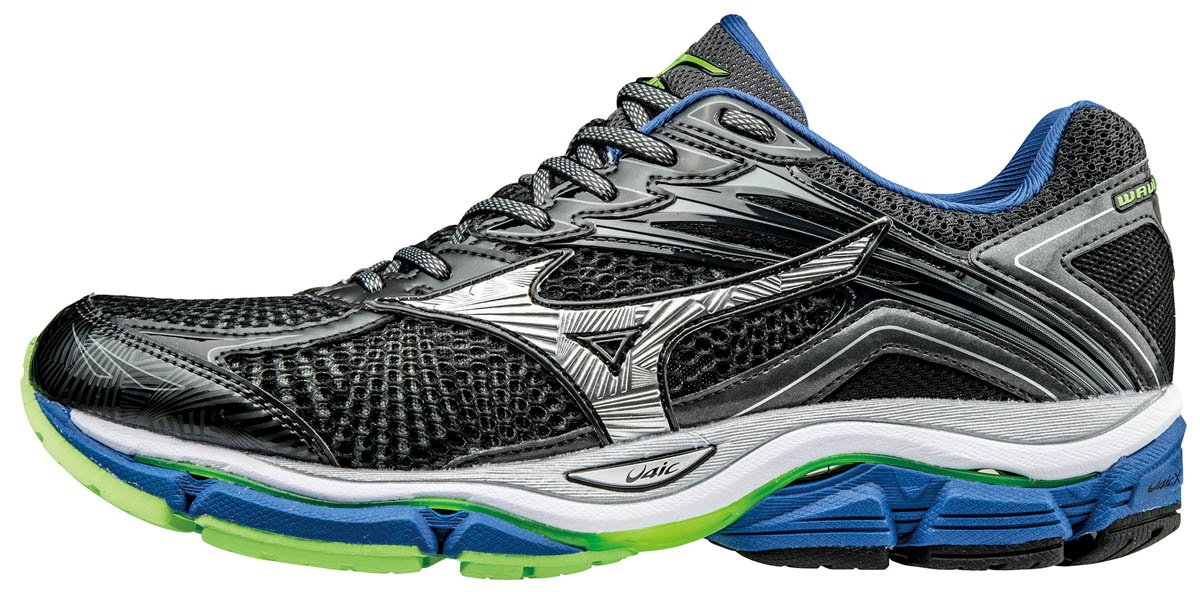 Mizuno Herren Wave Legend 4 Laufschuhe, Grau  40.5 EU|Grau (Dark Shadow/Silver/Nautical Blue)