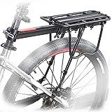 OUTERDO Aluminum Fahrrad Gepäckträger Carrier Sattelstütz Für Fahrrad Mountainbike (Passt auf:Durchmesser des Sattelschafts<33MM)