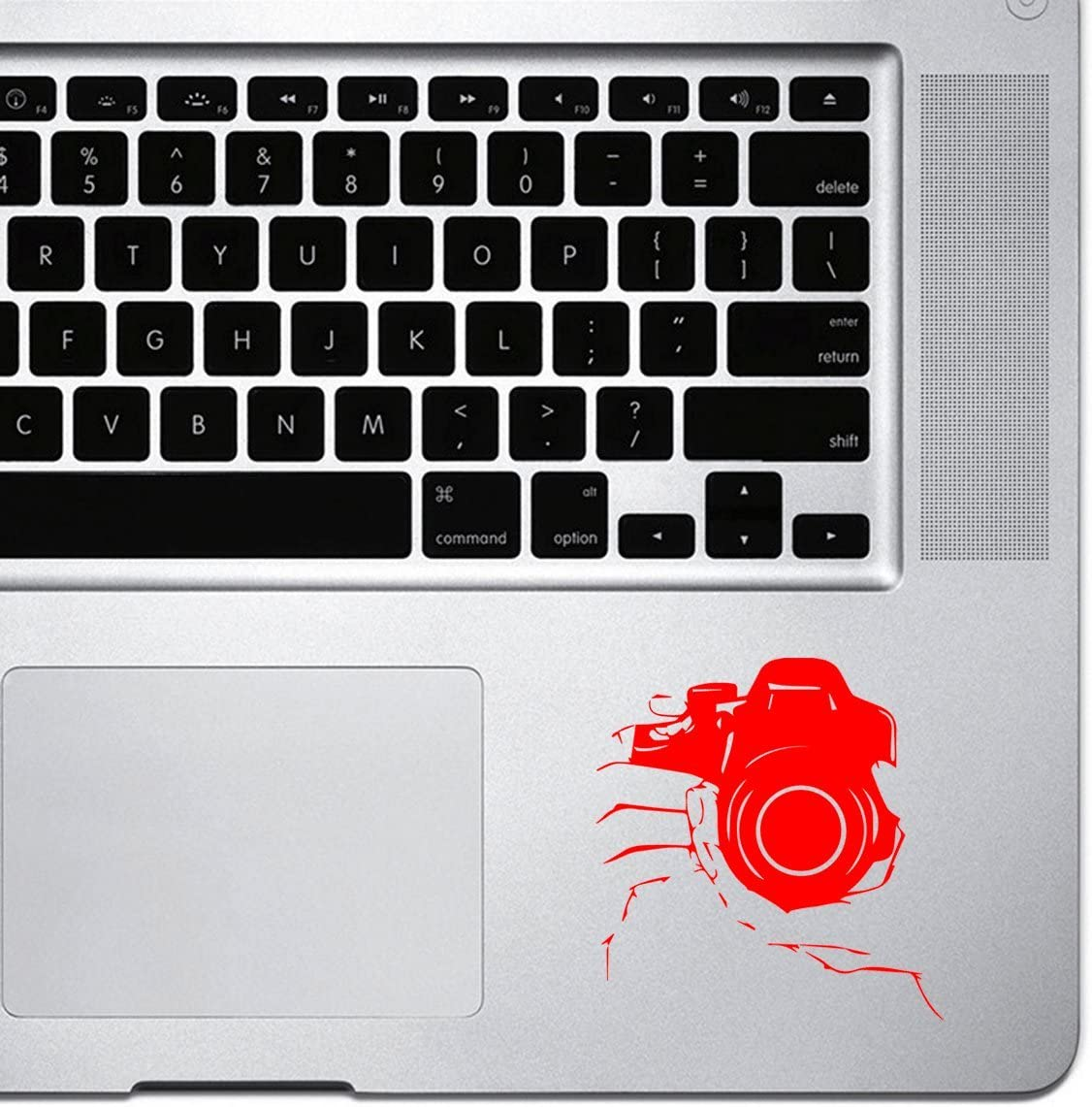 StickAny Palm Series Holding DSLR Camera Sticker for MacBook Pro, Chromebook, and Laptops (Red)
