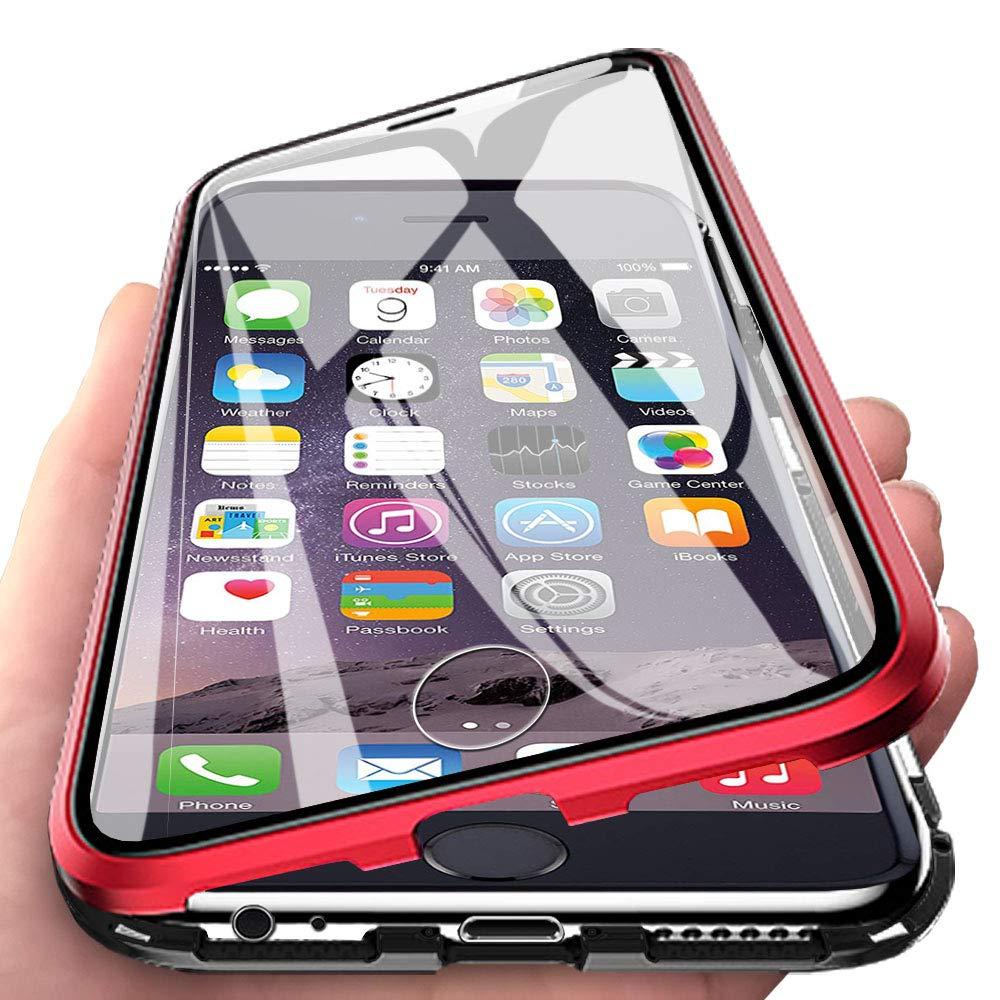Eabhulie iPhone 6s Funda, Metal Bumper con Adsorción Magnética + ...