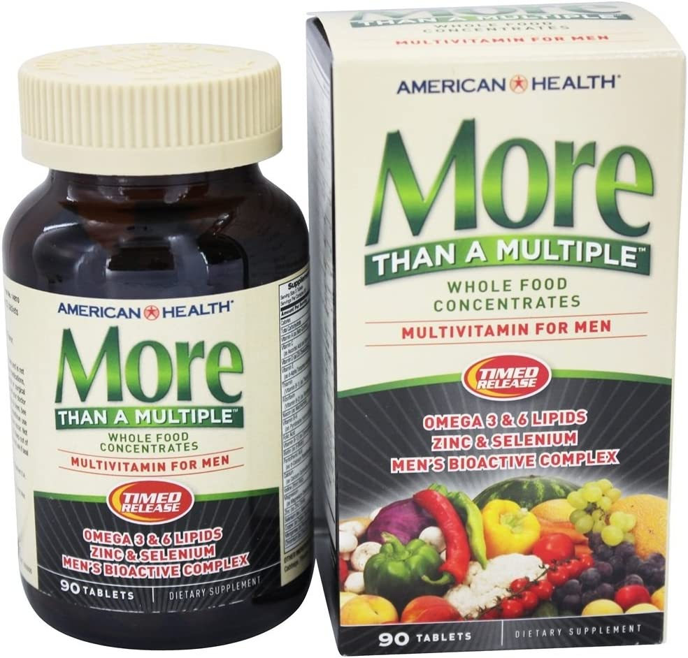 More Than A Multiple for Men Whole Food Concentrate American Health Products 90 Tabs