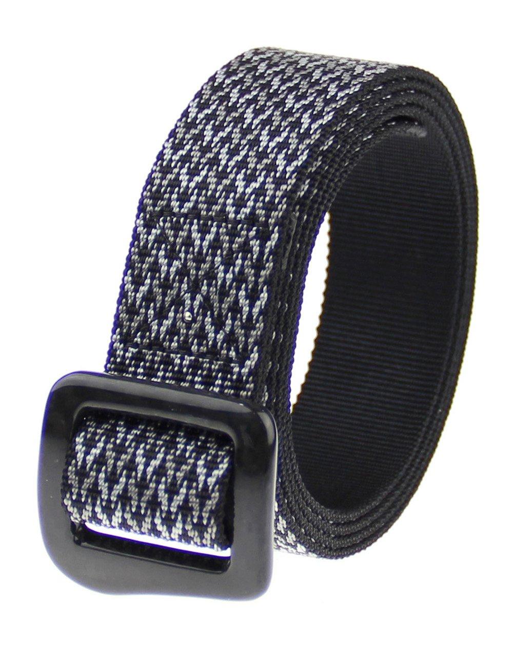 RockWay Ourdoor Jacquard Nylon with Carbon Fiber Buckle Unisex Cycling Belt (Black) (Medium)