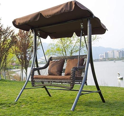 ZDYLM-Y Columpio Balancín Jardín 2 plazas de Asiento con oscilación de Carga Toldo Banco del jardín Columpio, al Aire Libre, terraza: Amazon.es: Deportes y aire libre
