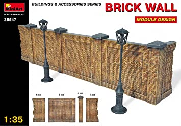 MiniArt 35547 Brick Wall - Pared de ladrillo en miniatura ...