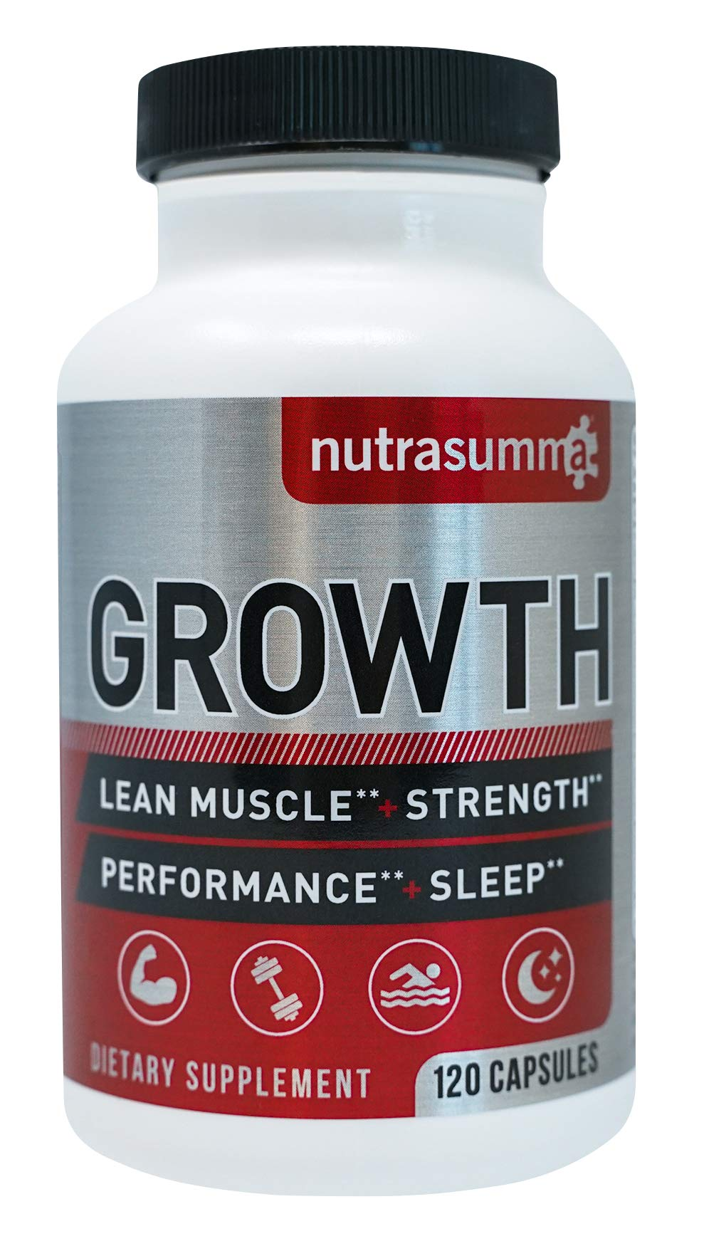 Nutrasumma Growth Hormone Supplement - 120 Capsules Natural Vitamins & Minerals, Lean Muscle Growth, Strength, Endurance & Recovery- Best Dietary Supplement by Nutrasumma