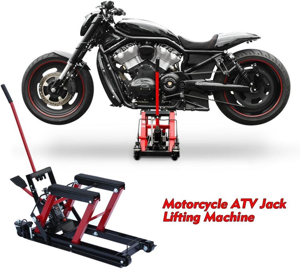 ATV 680 kg blu Aohuada Flybear Martinetto idraulico per moto,Cavalletto sollevatore per moto 680 kg,Martinetto idraulico sollevatore cric per motociclette