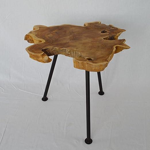 Mesa auxiliar, decoración para mesa, diseño de tronco de árbol de ...