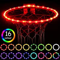 Waybelive LED Basketball Hoop Lights,Remote Control Basketball Rim LED Light, Change Color by Yourself, Waterproof,Super Bright to Play at Night Outdoors,Good Gift for Kids