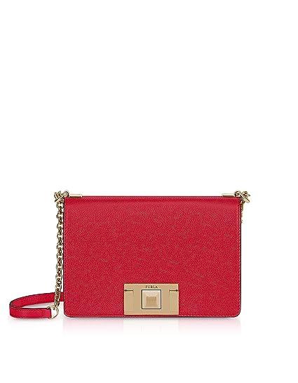 c0db0fd1930 Furla Women's 1000671 Red Leather Shoulder Bag: Amazon.co.uk: Clothing