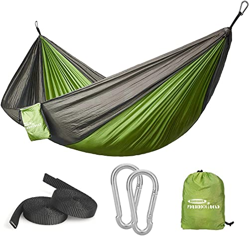 Touz Hammock Single Double Camping Portable Parachute Hammock for Outdoor Hiking Travel Backpacking -Nylon Camping Hammock