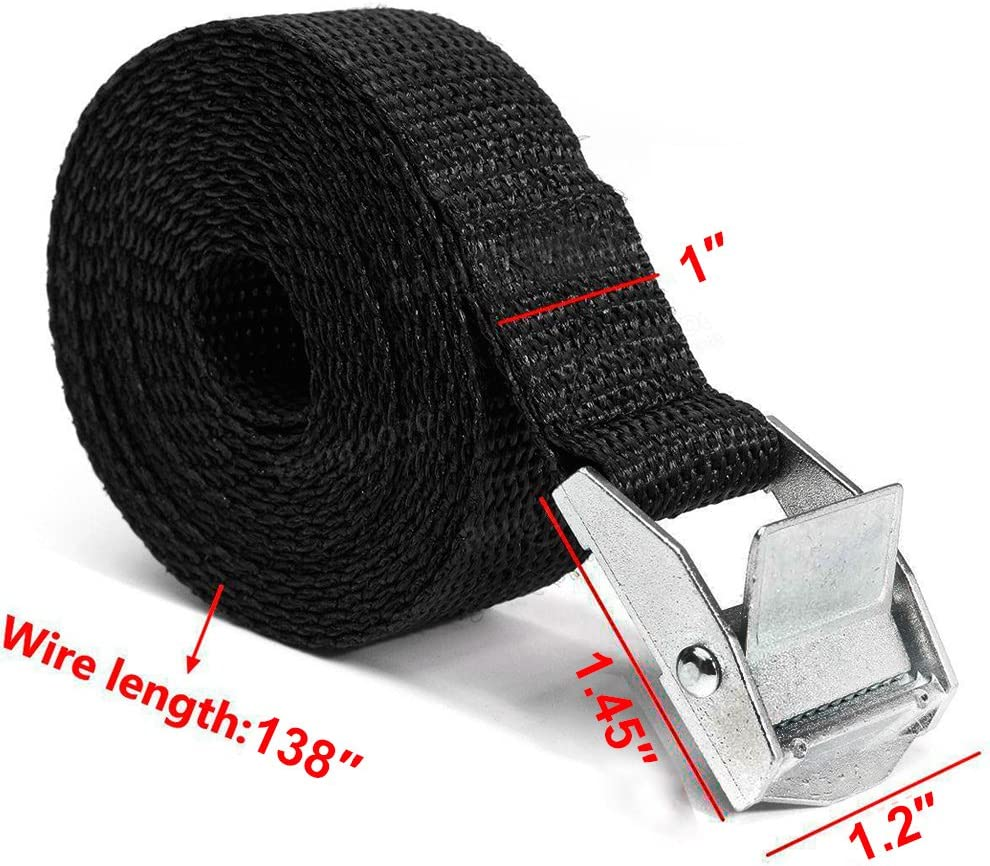 Trucks Heavy Duty Lashing Straps Adjustable Cam Buckle Tie-Down Straps for Motorcycle YOULERBU Tie Down Straps Cargo Luggage 2 Pack SUP Kayak Car Boat Trailer