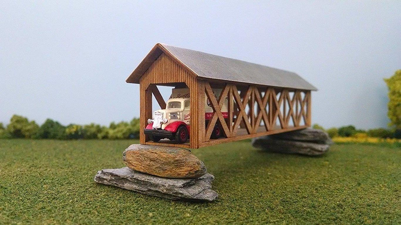 Train Time Laser HO Scale Feller Creek Covered Bridge Laser Cut Kit
