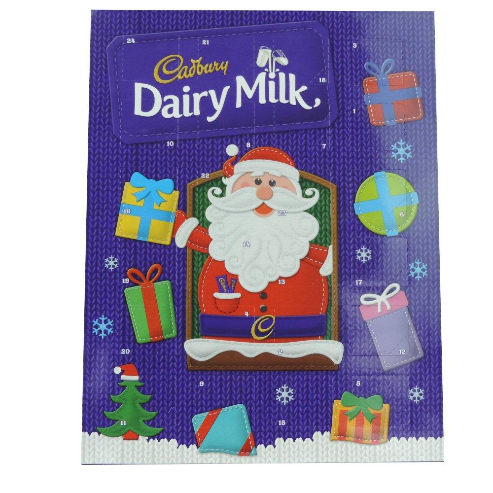 amazoncom cadbury dairy milk christmas chocolate advent calendar 90g health personal care