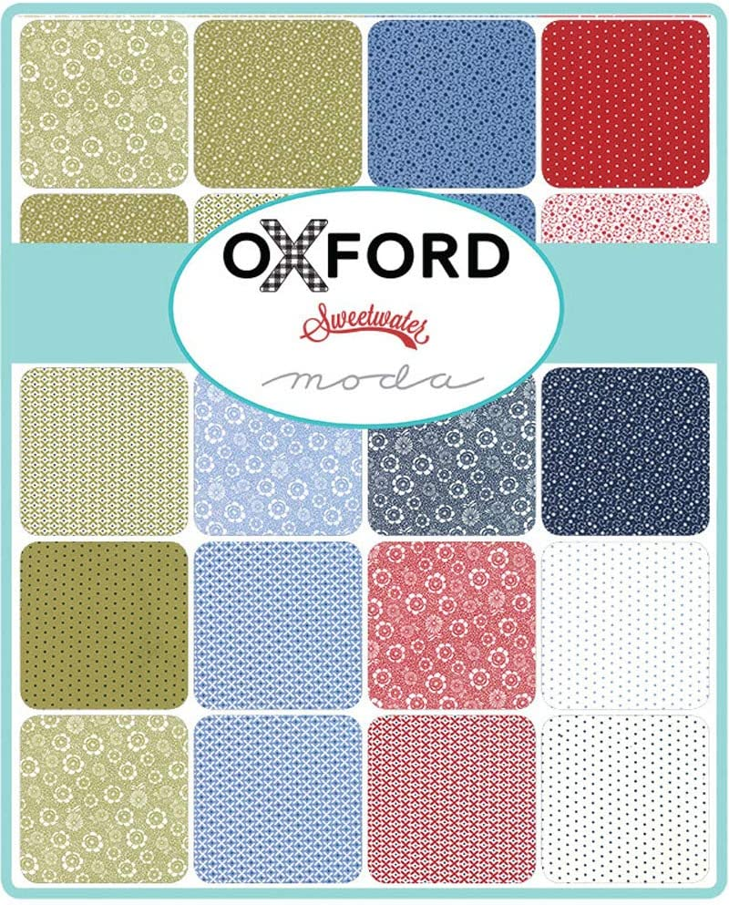 42-10 Precut Fabric Quilt Squares by Sweetwater Oxford Prints Layer Cake