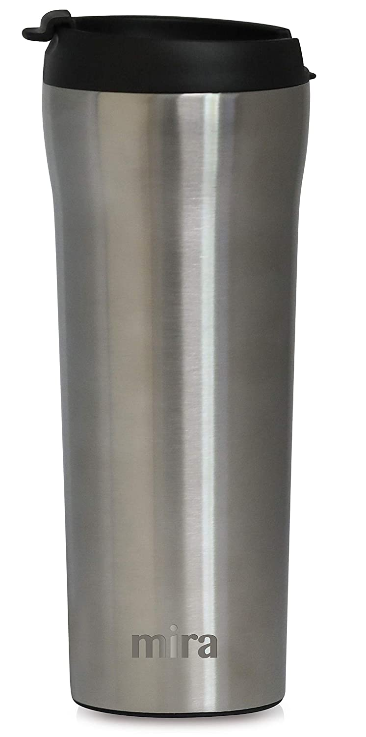 Oz Mug Keeps 16 Tea For Drinks Vacuum Steel Coffeeamp; Insulated Travel Proof Thermos LidSpill Mira Car With Stainless Tumbler Cup 4AjLcR35qS