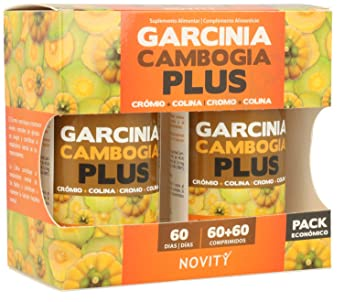 Garcinia de Cambogia plus 60+60 cap Novity: Amazon.es: Salud y ...