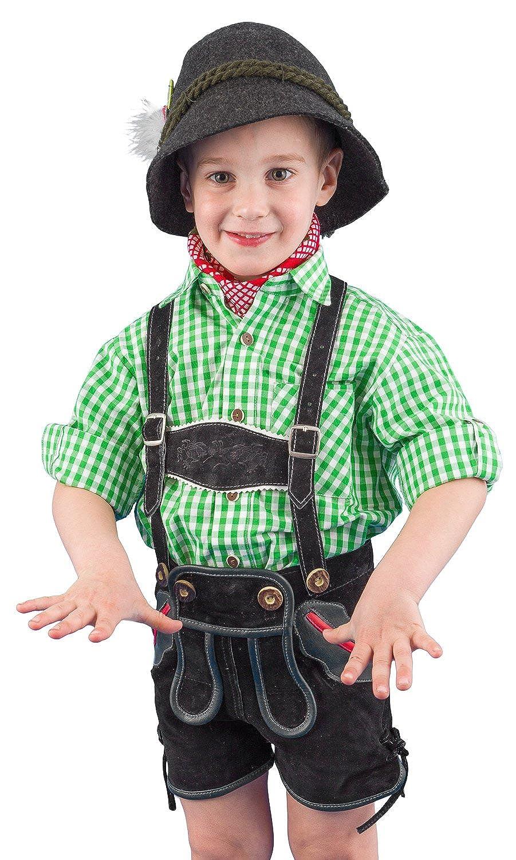 Isar-Trachten Ederer Max Kinder Trachtenhemd 52915 grün