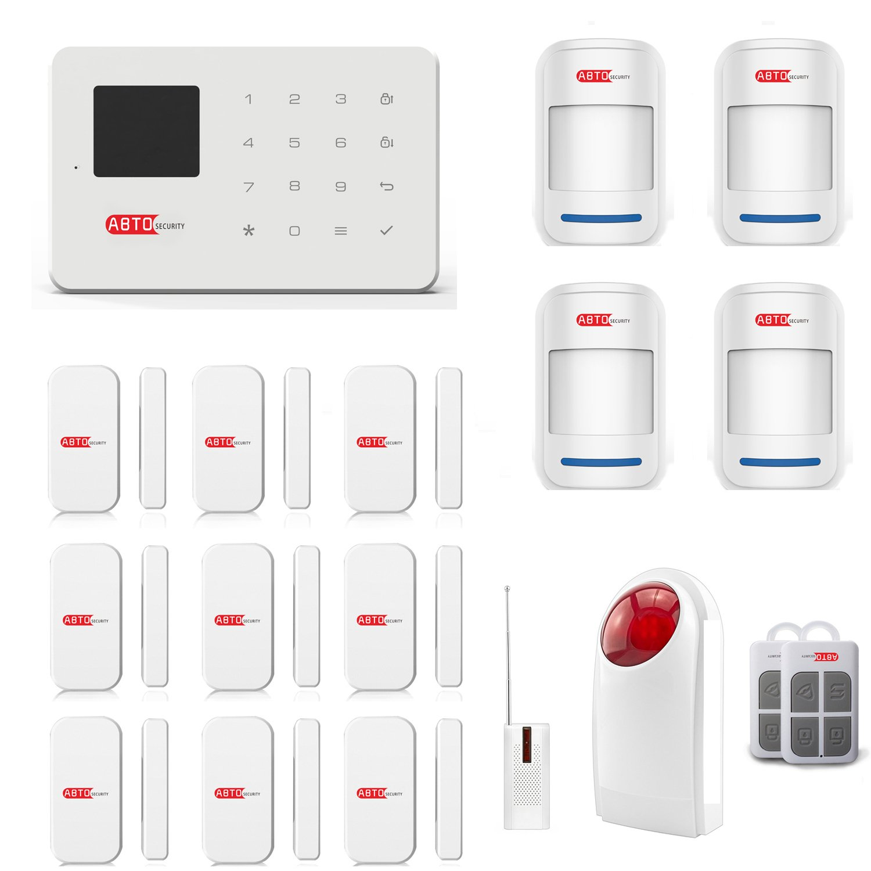 SZABTO Sistema de alarma inalámbrico G18 GSM para la seguridad del hogar (E)