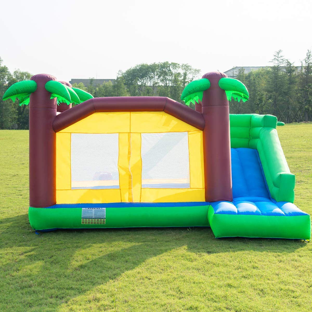Costzon Inflatable Jungle Bounce House Jump and Slide Bouncer Castle (Bouncer with 950W Blower) by Costzon (Image #3)