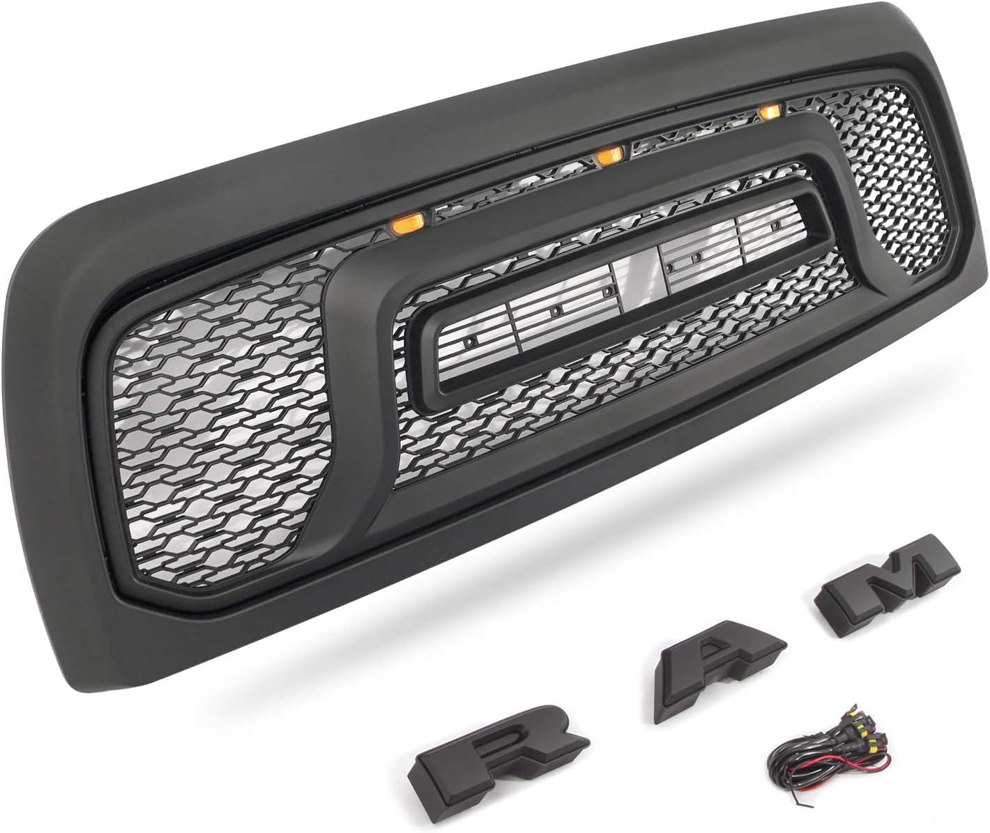 Compatible with Dodge Ram 2500 2010-2018 VZ4X4 Matte Black Grille Honeycomb Grill