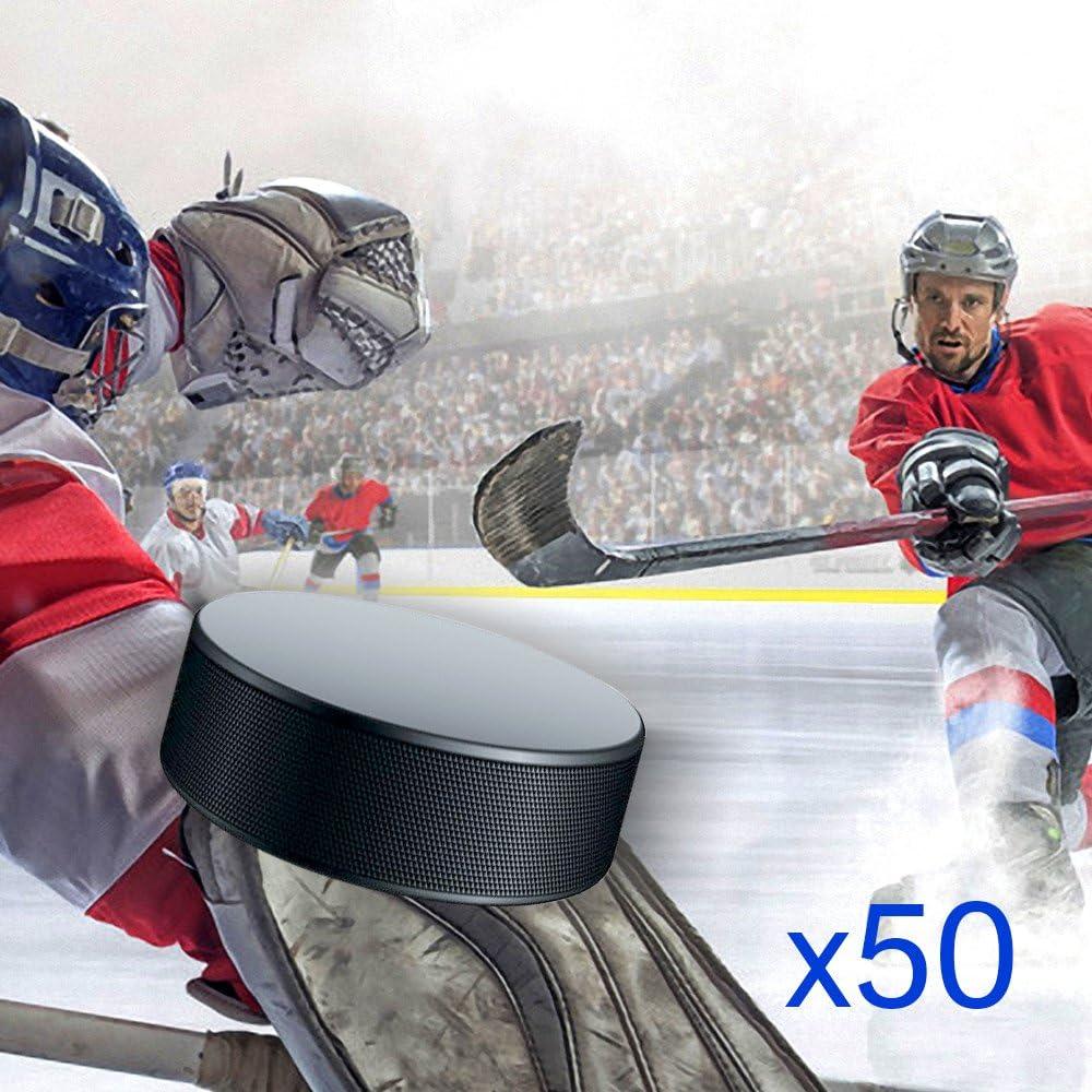 Hug Flight Hockey Pucks Bulk 50 Hockey Pucks per Case Official New : Sports & Outdoors
