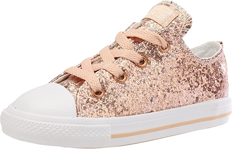 Converse Chuck Taylor All Star Sparkle Ox Infant Girls Trainer Dusk Pink