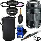 Canon EF 75-300mm f/4-5.6 III Telephoto Zoom Lens for EOS 7D, 60D, 70D, EOS Rebel SL1, T1i, T2i, T3, T3i, T4i, T5, T5i, T6, T6i, T6s, T7i, XS, XSi, XT, XTi Digital SLR Cameras + 3pc Accessory Kit