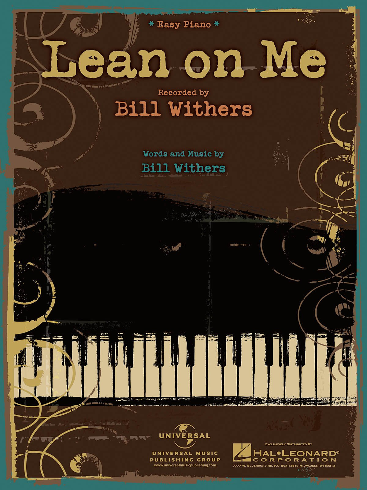 Lean on me bill withers easy piano 0884088407858 amazon lean on me bill withers easy piano 0884088407858 amazon books hexwebz Choice Image