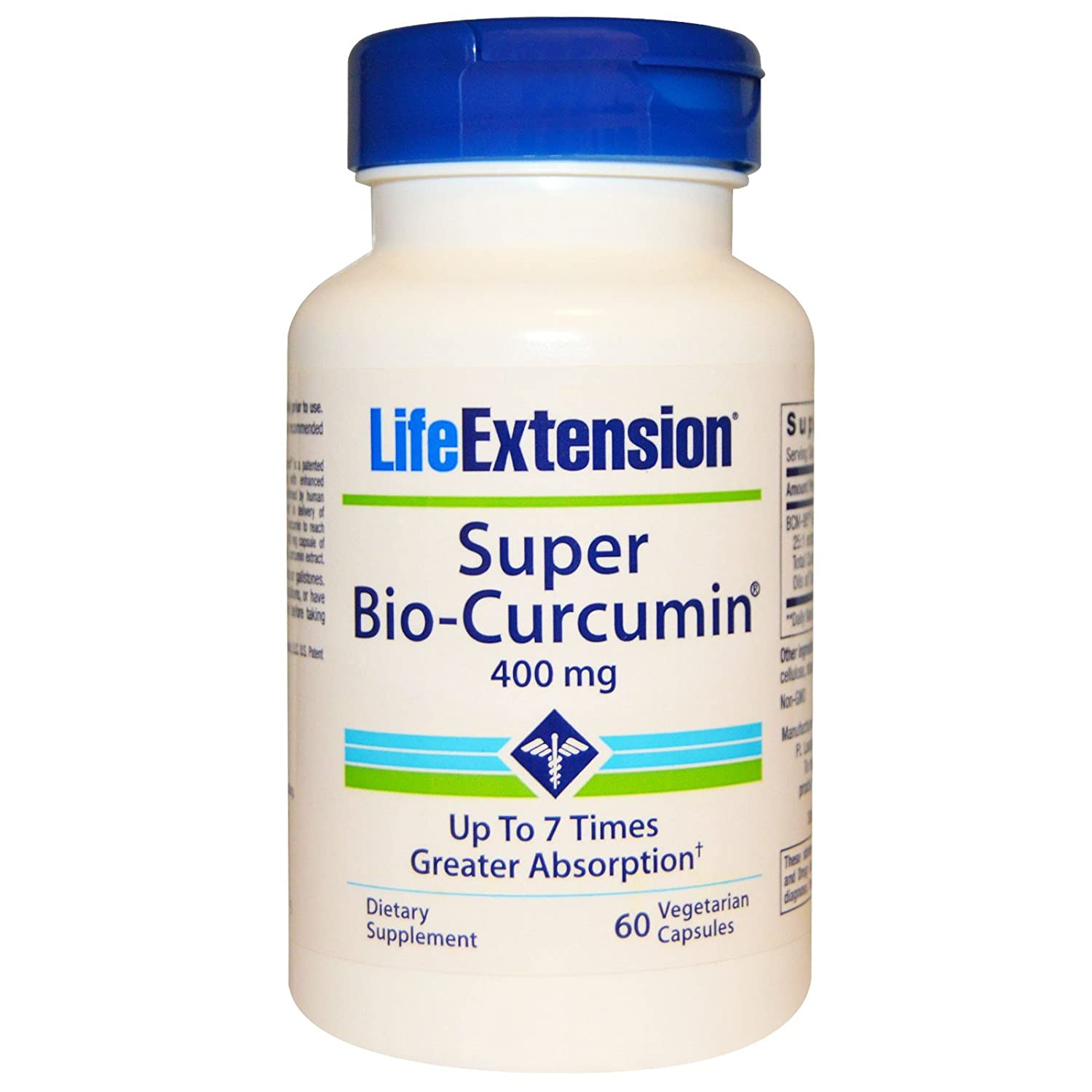 Amazon.com: Life Extension Super Bio-Curcumin 400 mg 60 Veggie Caps , Shaker Bottle assorted colors 20 oz: Health & Personal Care