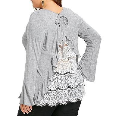 Mode Frauen Damen Spitze Crochet Langarm Kimono Cardigan Oberteile Einfarbig Neu