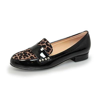 5a72640b650 Lunar Womens Vesta Patent Loafers 8 UK Ocelot  Amazon.co.uk  Shoes ...