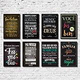 Kit Placas Decorativas Frases Motivacionais Mdf- 8 Placas
